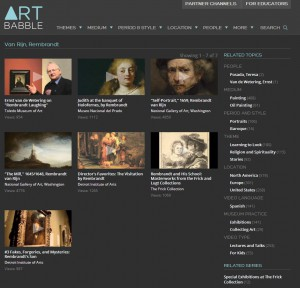 Rembrandt in der ART BABBLE